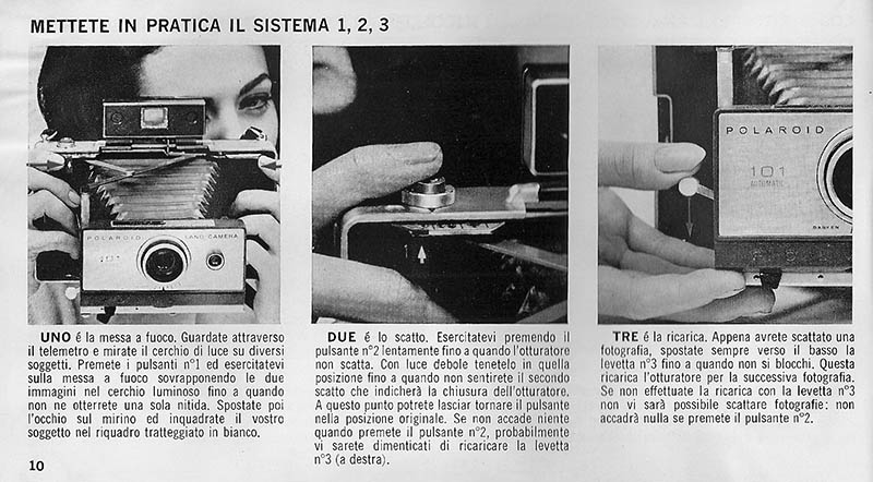 how to use polaroid 101 land camera